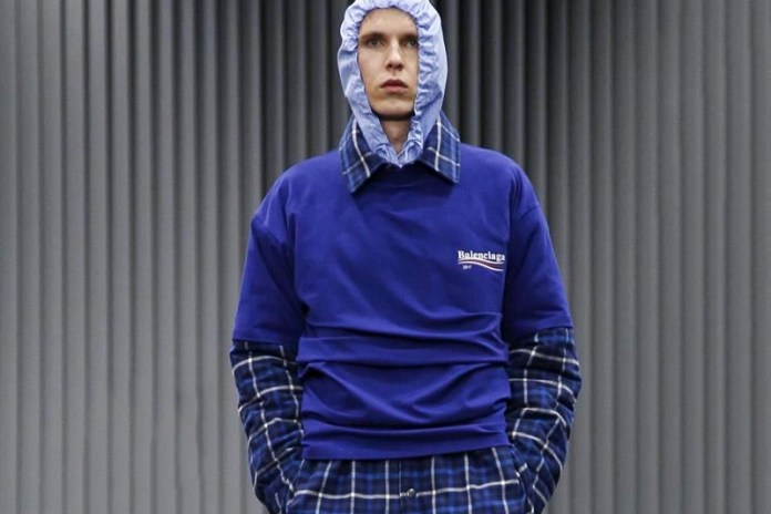 Balenciaga's 2017 Fall/Winter Menswear Collection Is Feeling the Bern