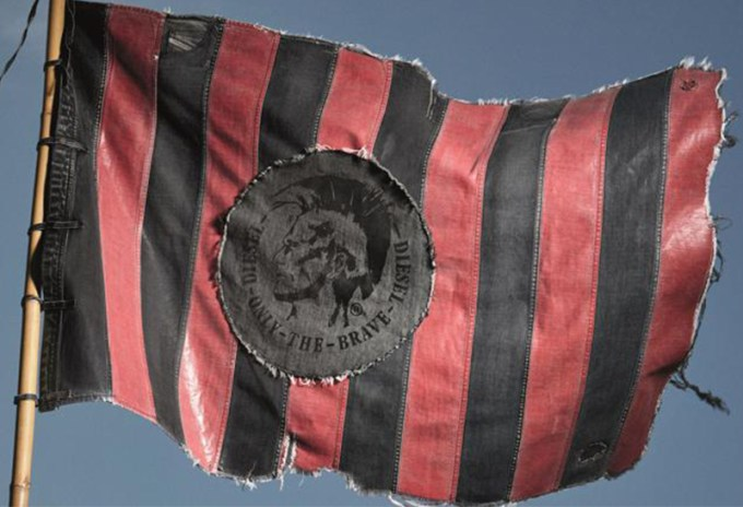 Check out the Making of Diesel's AC Milan Flag
