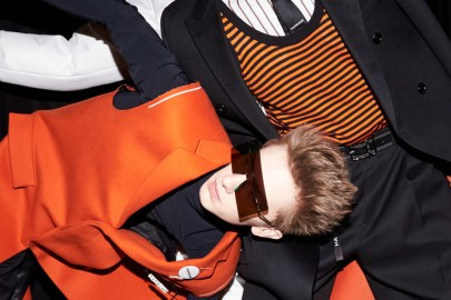 Dior Homme Models Strike Unorthodox Poses Backstage at the 2017 Fall/Winter Presentation
