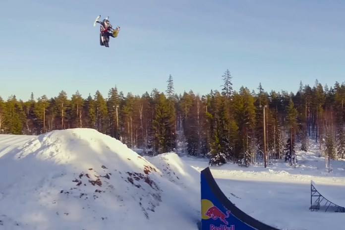 Daniel Bodin Lands World's First Double Backflip on a Snowmobile