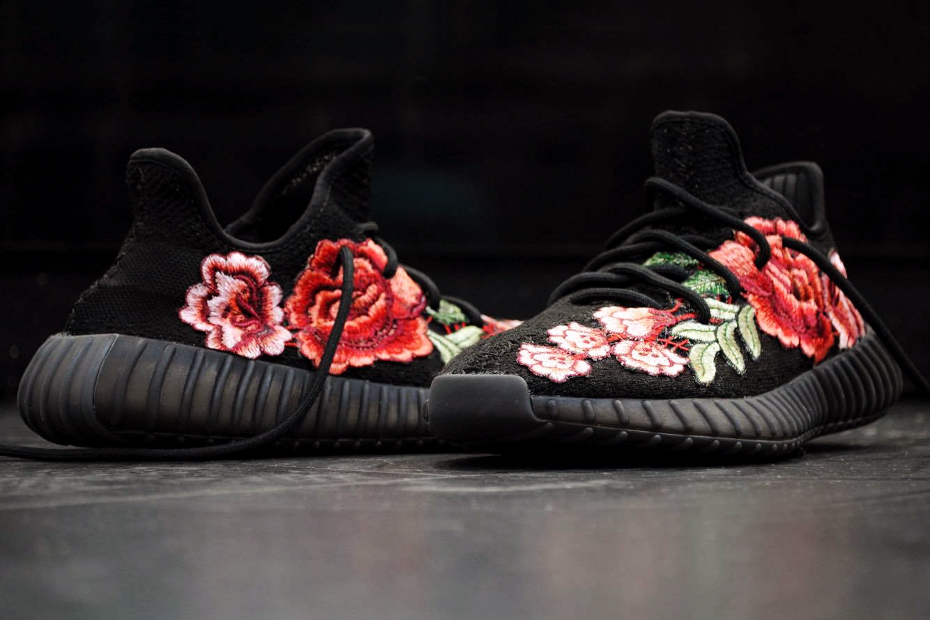 Gucci Ace Inspired Quot Flowerbomb Quot Yeezy Boost 350 V2 Customs
