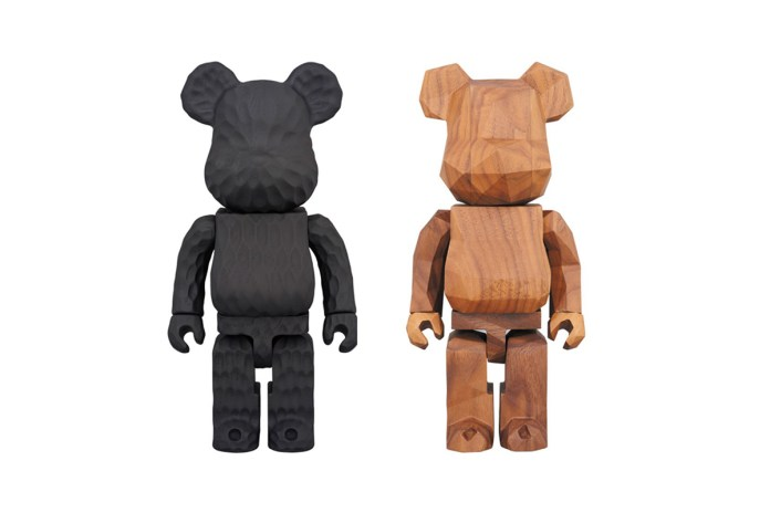 fragment design & Medicom Toy Unveil a Pair of Hand-Carved BE@RBRICKS