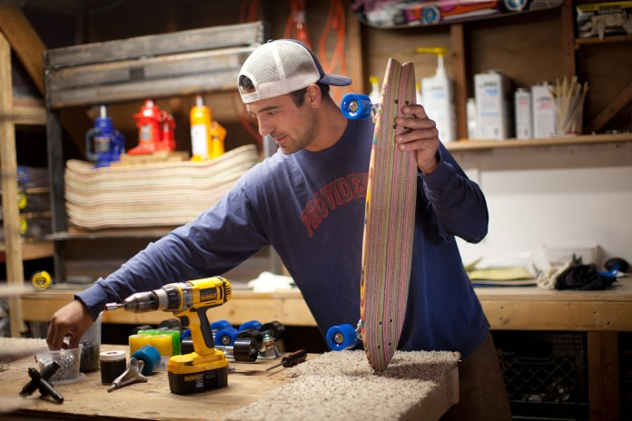 George Rocha Turns Old Skateboards Into Furniture and Resurrected Decks