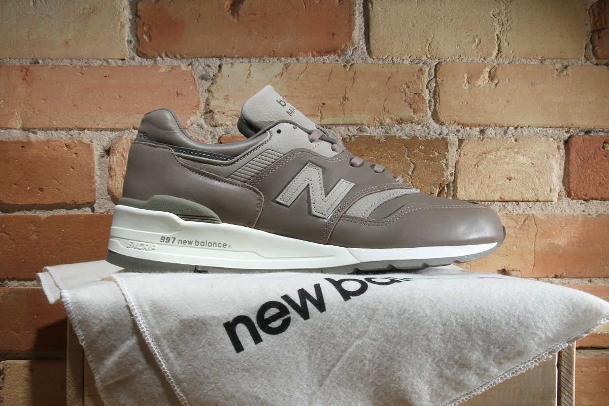 New Balance 997 Horween Leather Beige Grey