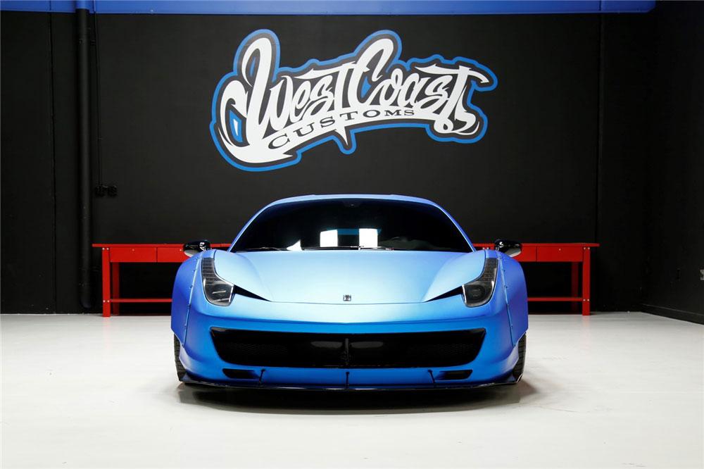 Justin Bieber Blue Ferrari 458 Italia