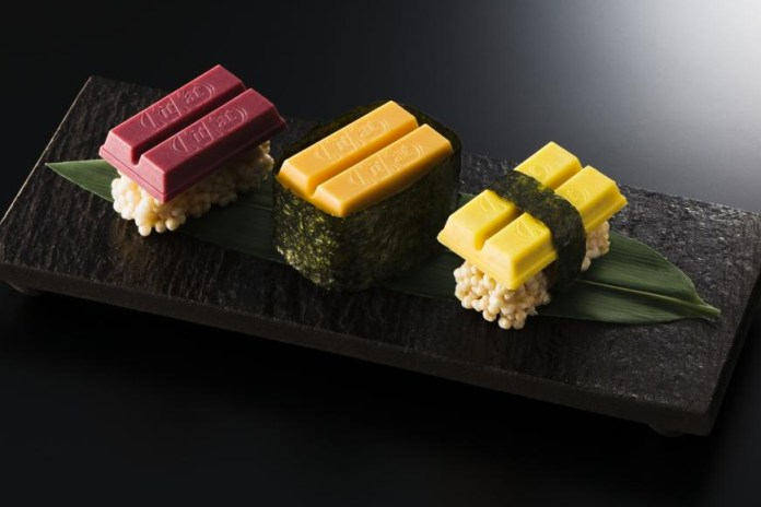 "Kit Kat Releases Limited Edition ""Sushi"" Pieces in Tokyo"