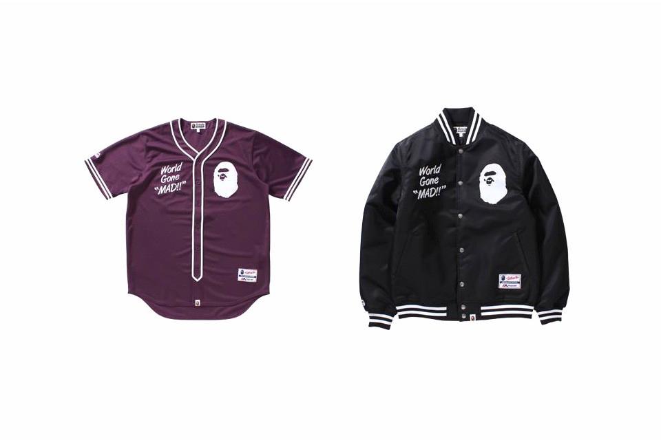 BAPE Majestic Baseball Jersey Varsity Jacket