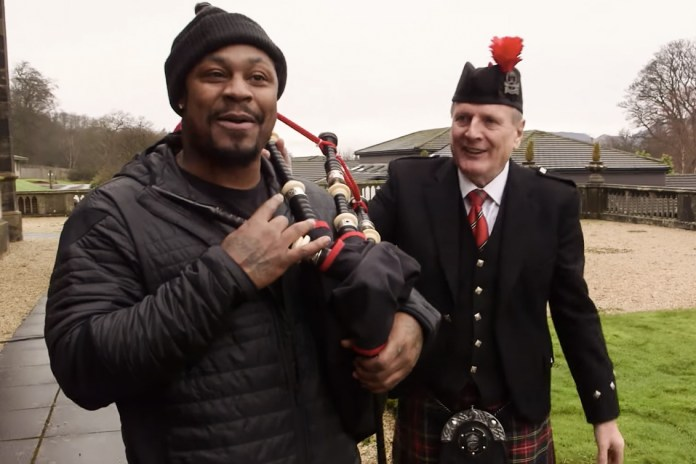 Marshawn Lynch Visited Houston, Scotland to Talk Football, Skittles and Kilts
