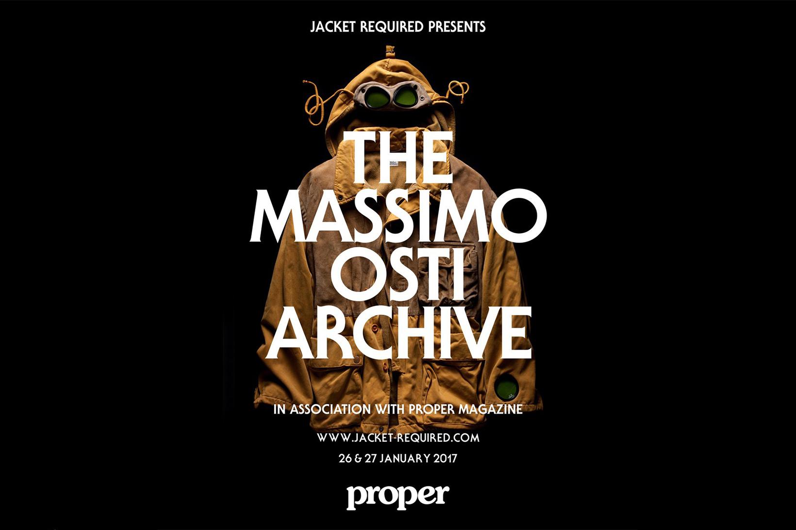 Massimo Osti Archive London Proper Magazine Jacket Required