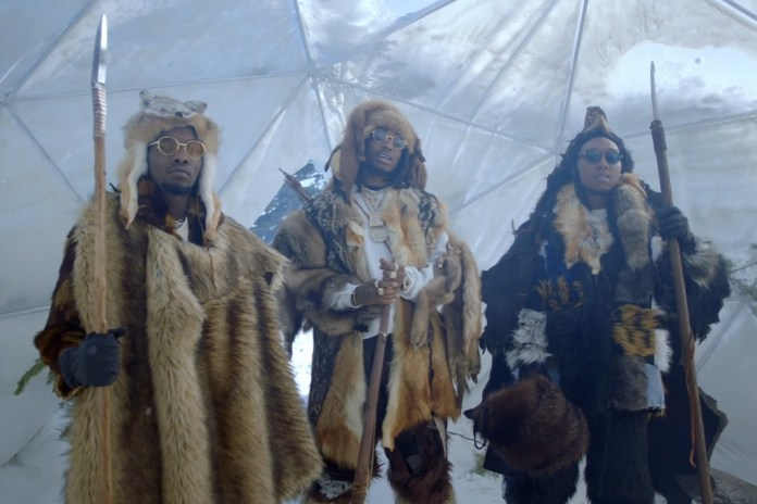 "Migos Don Furs & Head to the Frostbitten Forest For ""T-Shirt"" Video"