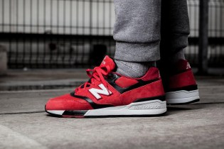 New Balance's ML597GSB Sports a Striking Red Colorway