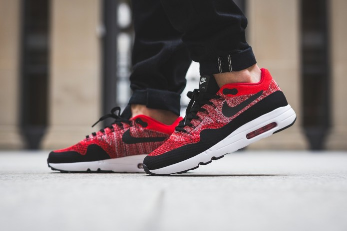 "The Nike Air Max 1 Ultra Flyknit 2.0 Receives A ""University Red"" Colorway"