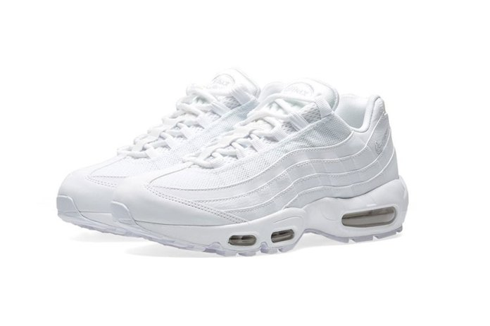 "The Nike Air Max 95 Gets a Crisp ""Triple White"" Makeover"