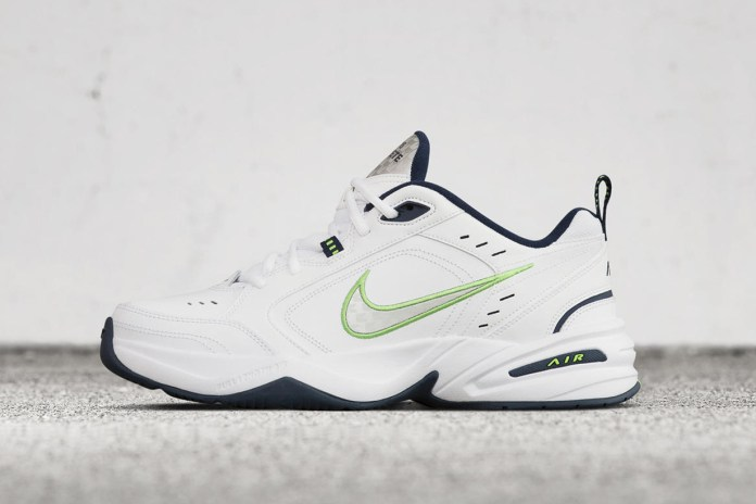 The Nike Air Monarch IV Gets Dressed in Crisp White, Lime Green and Navy Blue