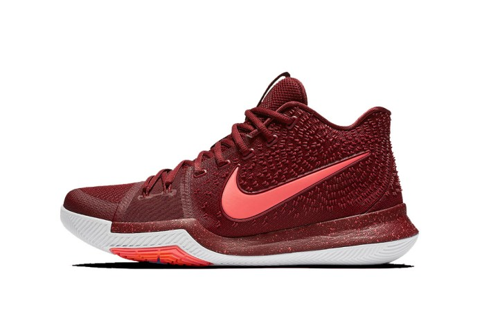 The Nike Kyrie 3 Pays Homage to the Cleveland Cavalier's Hardwood Classic Colors
