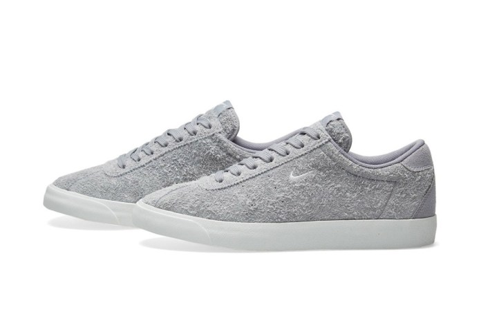 Nike's Match Classic Meets Hairy Grey Suede Construction