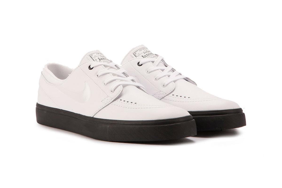 wholesale dealer 9daa6 6be31 nike sb janoski white leather