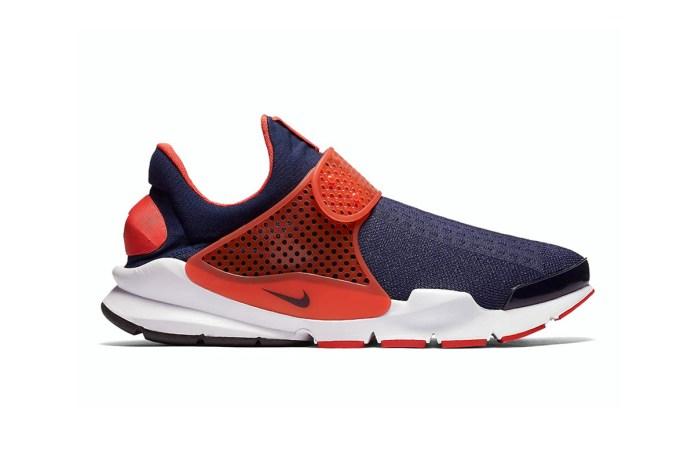 Nike Dresses the Sock Dart in Navy & Orange