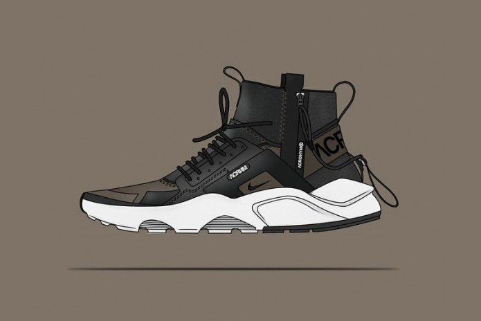 Check out These NikeLab ACRONYM Huarache Mid Concept Shoes