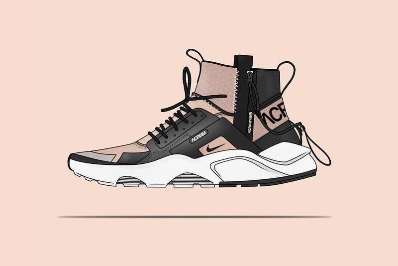Nikelab Acronym Huarache Mid Concept Shoe Hypebeast