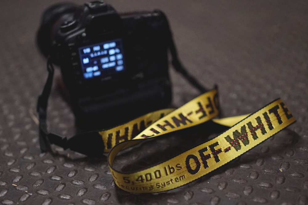 Custom OFF WHITE VIRGIL ABLOH Industrial Camera Strap