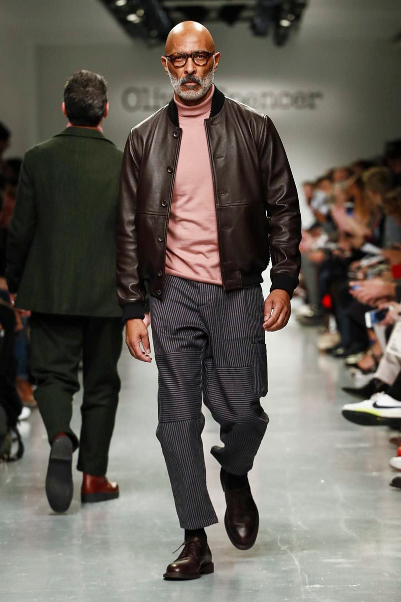 Image result for men's leather bomber jacket winter 2017 on the runway