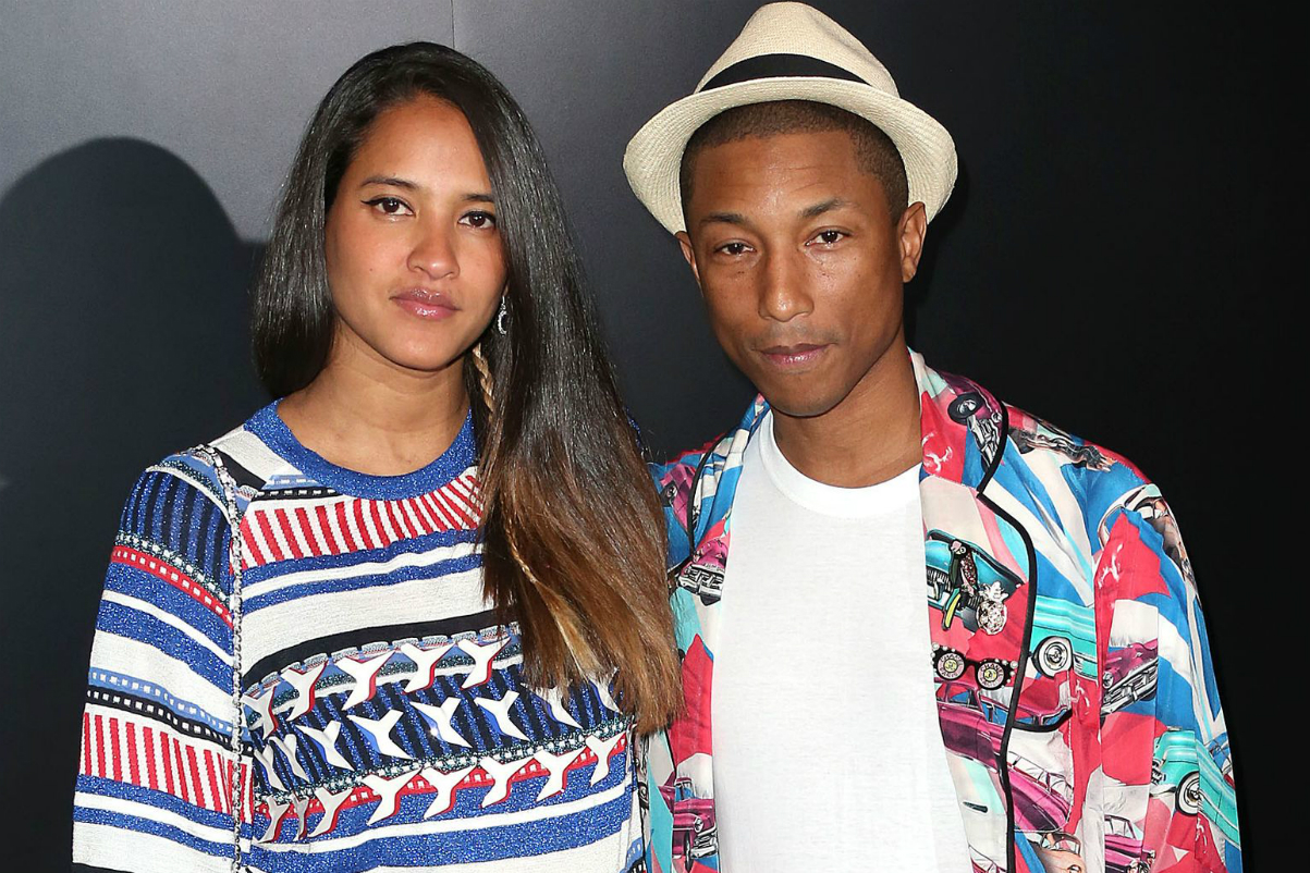 Pharrell Williams Triplets Helen Lasichanh