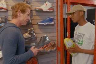 Skip Bayless Visits Flight Club's Los Angeles Location for Some Sneaker Shopping