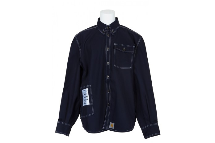 This casual must-have denim shirt features a button-down collar, patch Wrangler Authentics Men's Long Sleeve Sherpa Lined Denim Shirt. by Wrangler. $ $ 23 99 Prime. FREE Shipping on eligible orders. Some sizes/colors are Prime eligible. out of 5 stars Product Features.