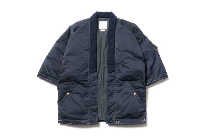 visvim's SANJURO KIMONO DOWN JKT Receives Another Luxurious Treatment
