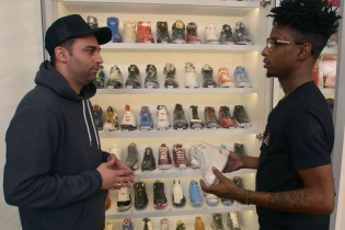 21 Savage Visits NYC's Stadium Goods for a Productive 'Sneaker Shopping' Trip