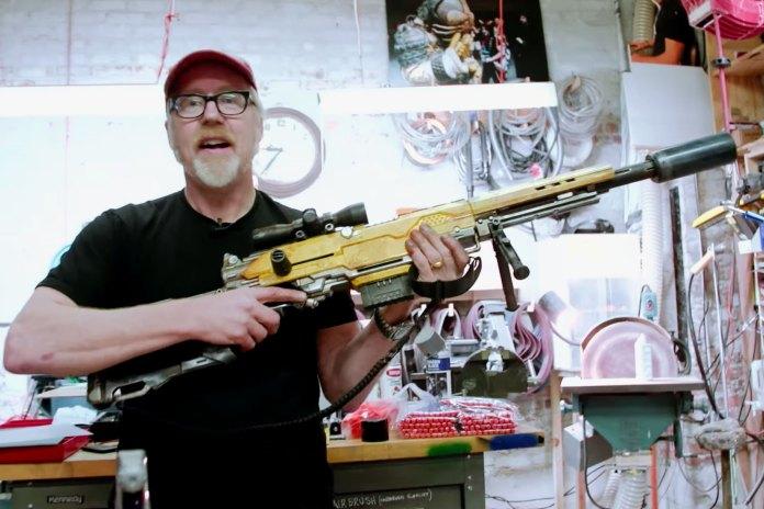 Adam Savage Builds a Custom Nerf Rifle Gun