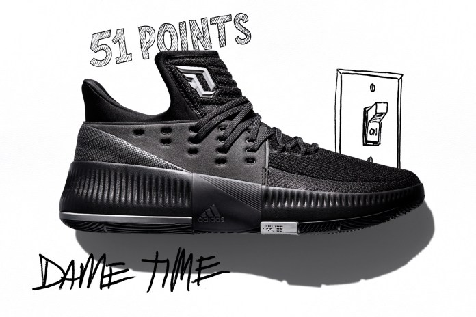 "adidas Celebrates Damian Lillard's Elite Scoring Ability via New Dame 3 ""Lights Out"" Colorway"