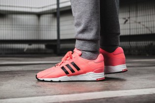 "Intriguing ""Turbo Red"" Coloring Coats the adidas Originals EQT Support RF"