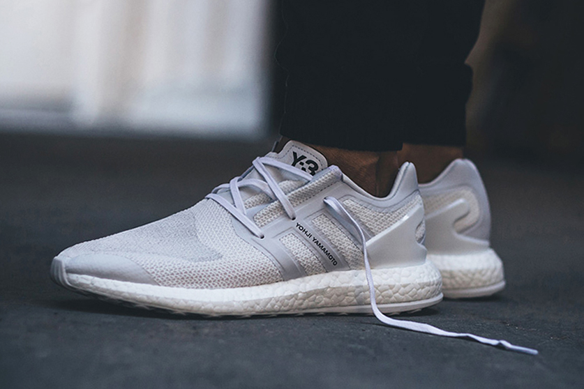 "adidas Y-3 Pure BOOST ""Triple White"" On Feet Look Three Stripes Yohji Yamamoto - 3732444"