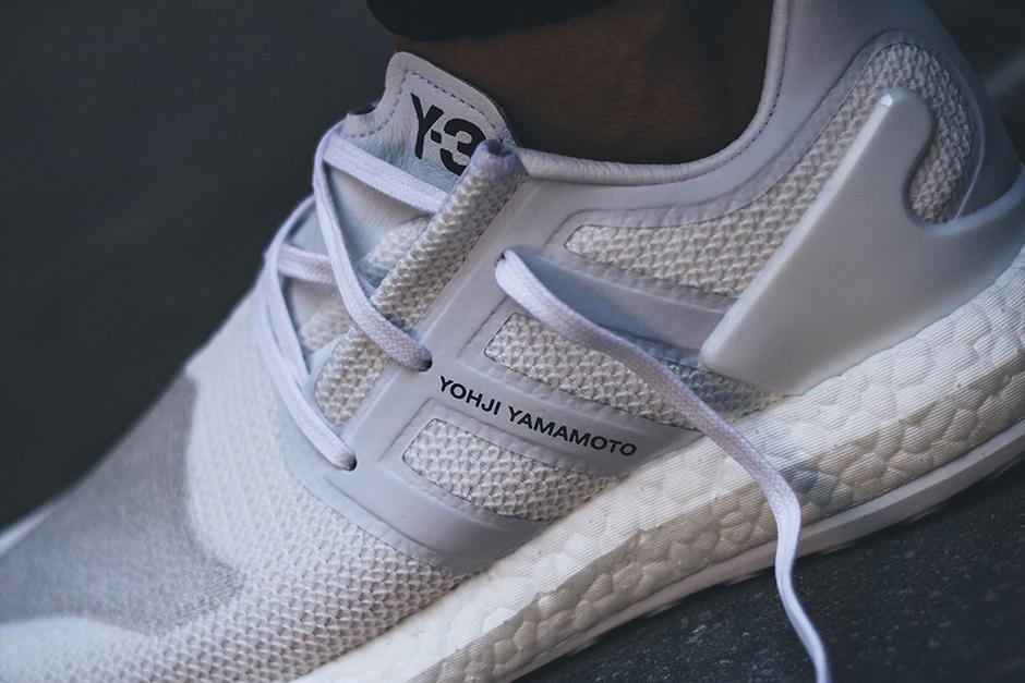 "adidas Y-3 Pure BOOST ""Triple White"" On Feet Look Three Stripes Yohji Yamamoto - 3732411"