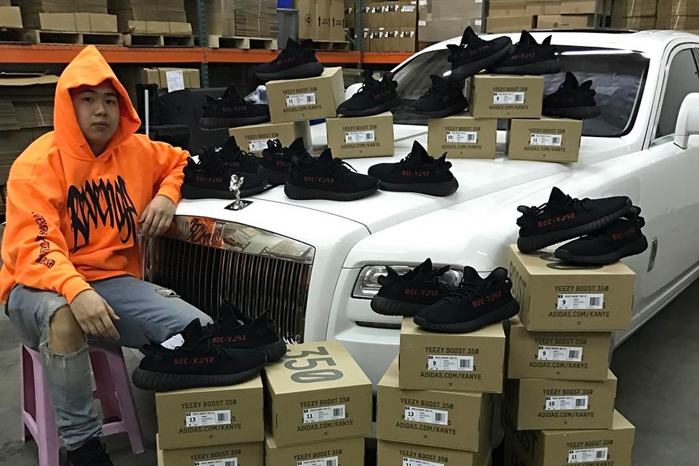 """Allen Kuo YEEZY BOOST 350 V2 """"Black/Red"""" - 3721000"""
