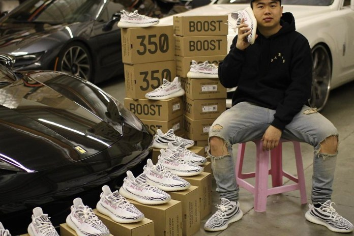 "Allen Kuo Resurfaces to Tease His Impressive YEEZY BOOST 350 V2 ""Zebra"" Stockpile"