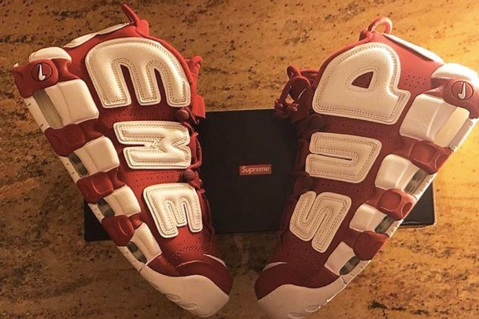 A$AP Bari Receives One of the First Pairs of Supreme x Nike Air More Uptempo