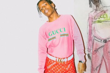 Picture of A$AP Rocky Wears Never-Before-Seen Pair of Supreme x Louis Vuitton Pants for a Stylized Shoot