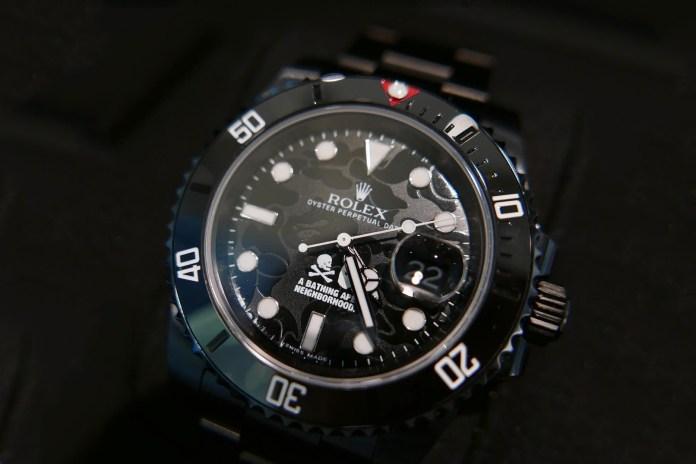 BAPE x NEIGHBORHOOD x Bamford Watch Department Unite for Some Sleek Rolex Watches