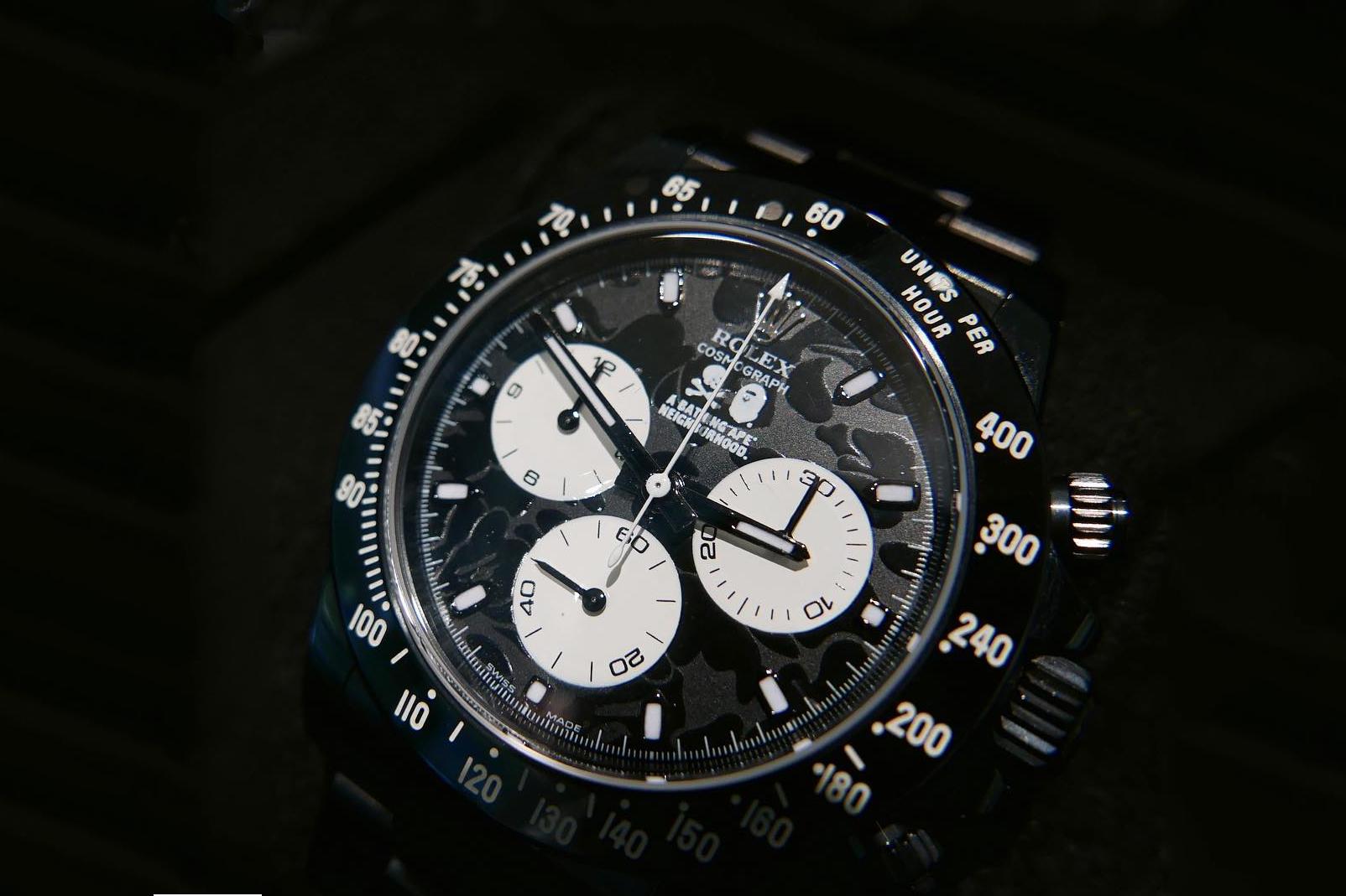 BAPE x NEIGHBORHOOD x Bamford Watch Department Rolex Watches Timepieces A Bathing Ape