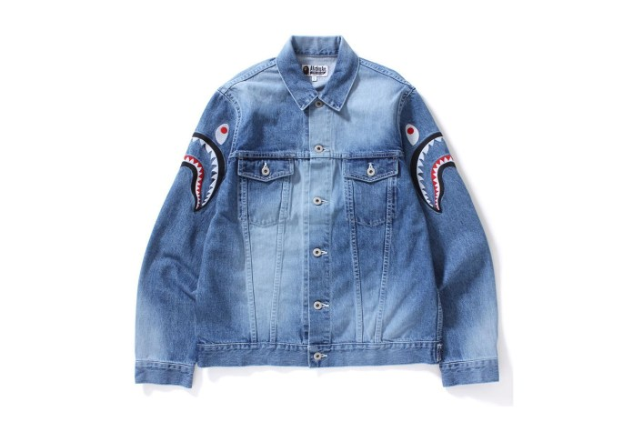 BAPE Brings the Shark Motif to the Trucker Jacket