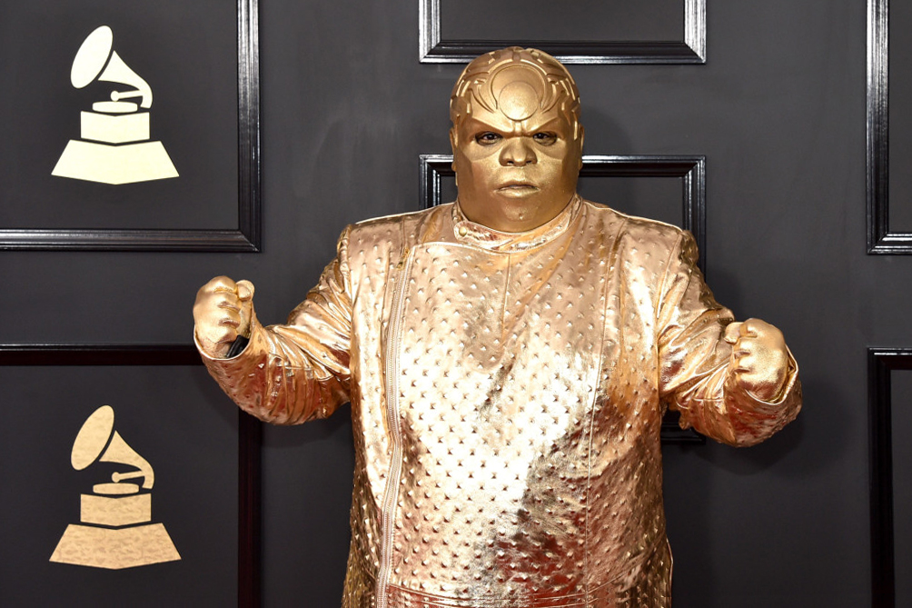 CeeLo Green Speaks About Gold GRAMMY Outfit - 3730123