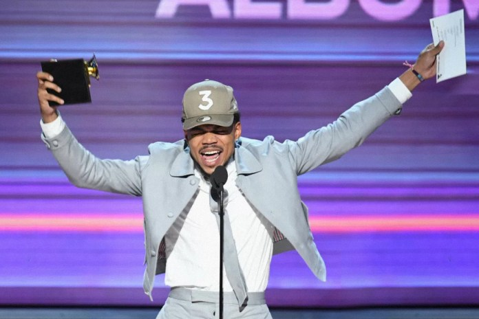 Chance The Rapper's Music Streams Have Increased Over 200% Following The Grammys