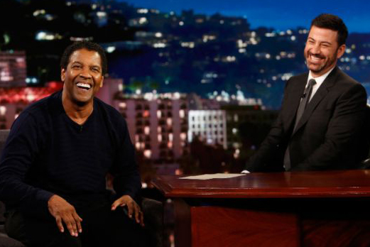 Denzel Washington Gets Tested on His Famous Lines During 'Jimmy Kimmel Live!'