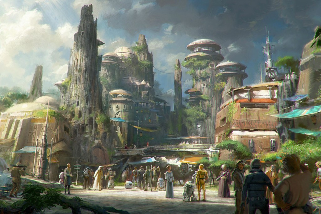 Disney's 'Star Wars' Theme Park to Open in 2019 Luke Skywalker Darth Vader Jedi