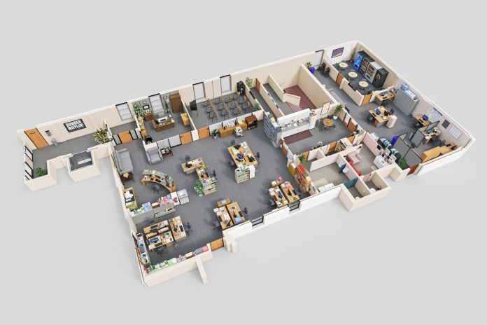 Drawbotics Designs 3D Floor Plans of Famous TV Show Offices