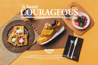"Feature & Saucony Team Up Again for Courageous ""Belgian Waffle"""