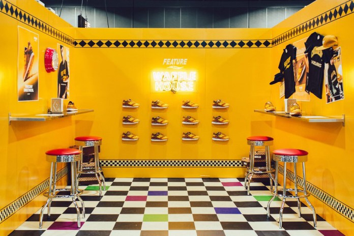 "Feature Builds a ""Waffle House"" at Agenda Las Vegas for Saucony Collaboration"